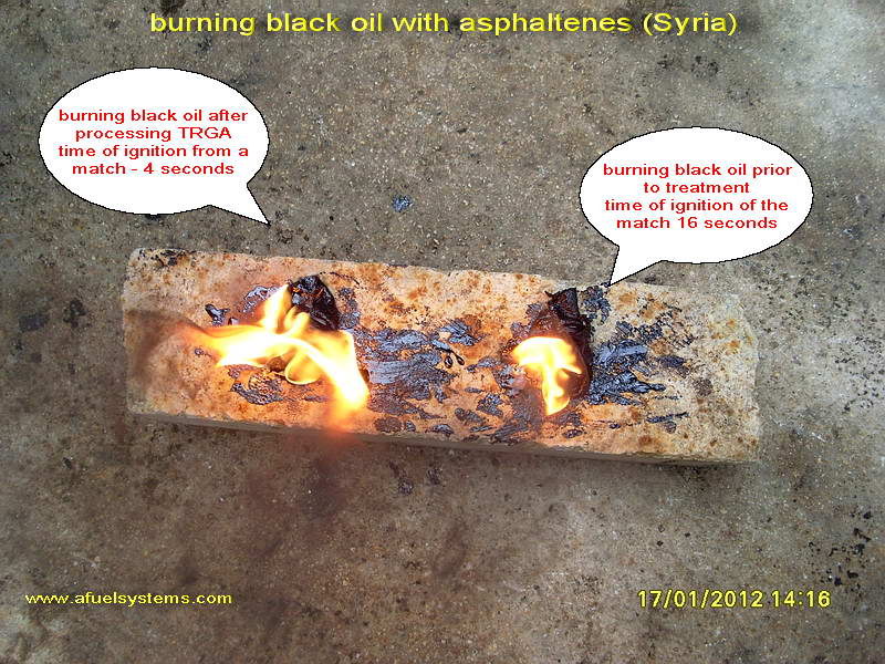 burning watered mazout mixed with port bilge water without failure of the flame. Recycling