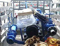 Create burning water-oil emulsion. Flooding of heavy fuel by 25%.  technology equipment report