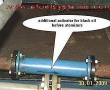 Activator of black oil burning TRGA